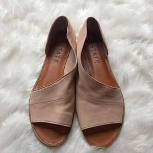 1.State Blush Leather Flats NWB